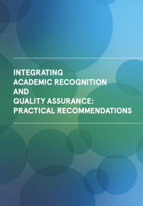 LIREQA -INTEGRATING ACADEMIC RECOGNITION AND QUALITY ASSURANCE: PRACTICAL RECOMMENDATIONS